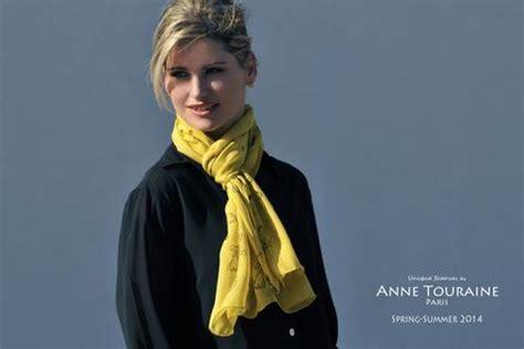 tie  wear oblong scarves anne touraine paris