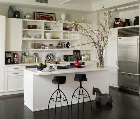 open shelves in kitchen ideas diy home decorating on a budget