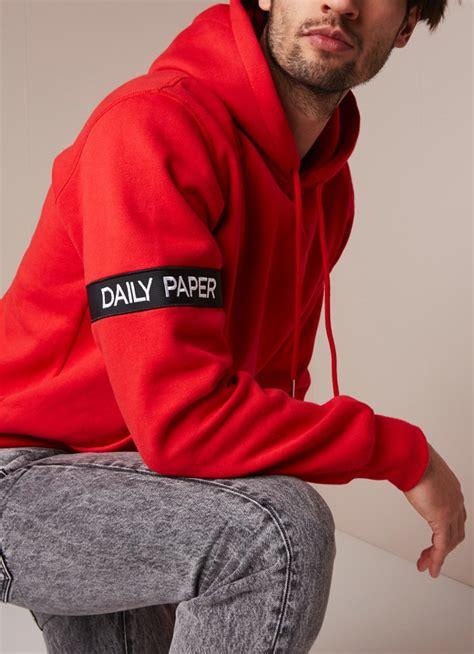 daily paper captain hoodie met logoband de bijenkorf