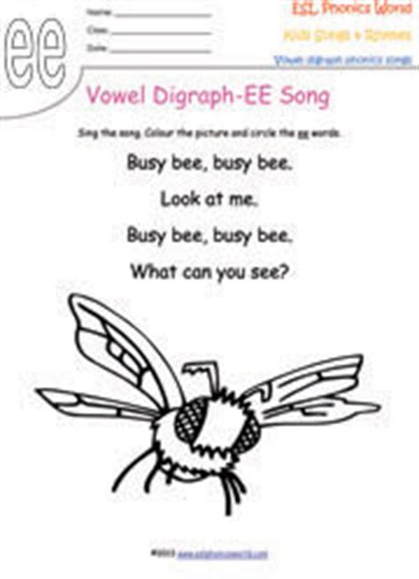 vowel digraph songs vowel sound phonics rhymes short