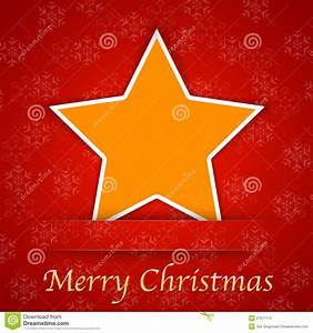 Merry Christmas Gift Card With A Simple Star Stock ...