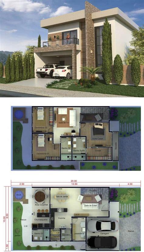 3 Bedrooms Home Design 10x20 Meters Home Ideas in 2020