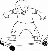 Skateboarding Clip Skateboard Clipart Kid Coloring Skate Cliparts Drawing Lineart Line Drawings Skateboards Disney Results Outlines Library Khumba Sweetclipart Classroom sketch template