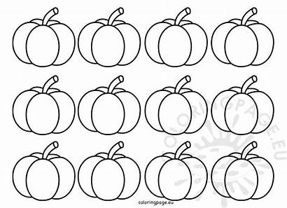 Pumpkin Template Shape Coloring Thanksgiving Coloringpage Eu