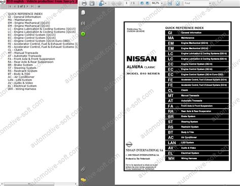 Nissan Almera Classic Workshop Service Manual
