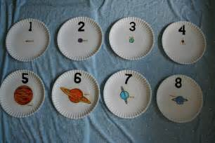 Planet Outer Space Counting Plates