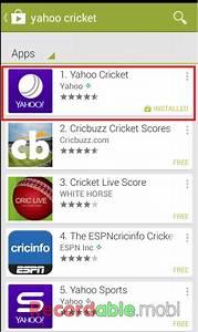 Yahoo cricket live score