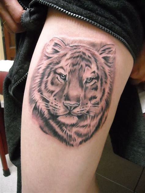tiger thigh tattoos designs ideas  meaning tattoos