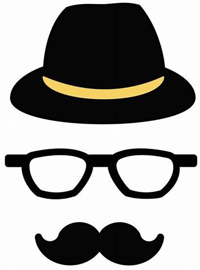 Clipart Hipster Mustache Hat Transparent Cliparts Moustache