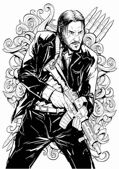 Wick John Canvas Action Keanu Reeves