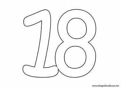 Numero Colorare Palabras Disegnidacolorare Compuestas Stampare Numeri