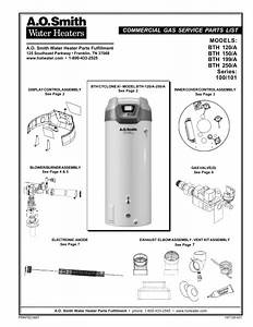 Ao Smith Water Heater Parts List