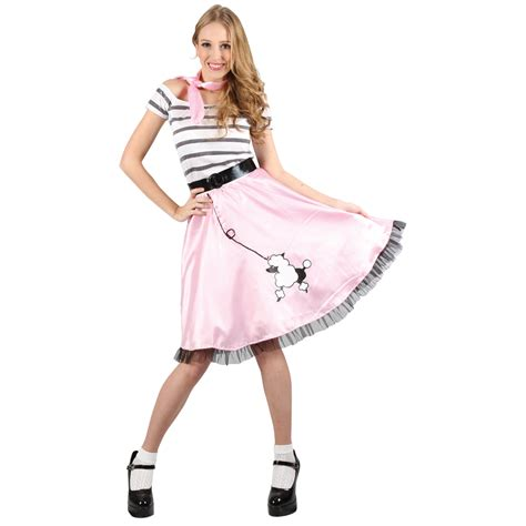 Ladies Nifty Fifties Retro Themed Bopper Poodle Fancy Dress Party Costume Outfit | eBay