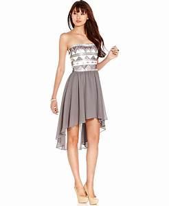 As U Wish Juniors Dress, Strapless Sequin from Macys ...