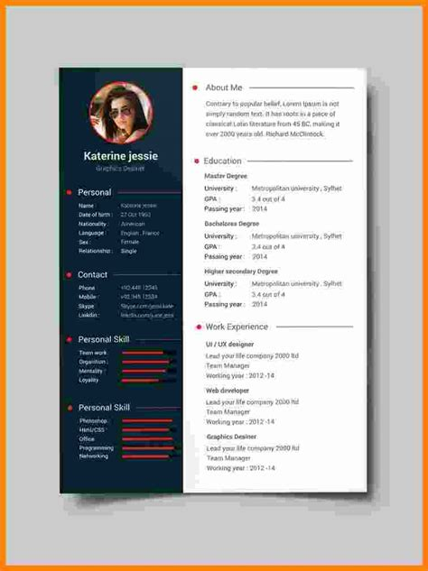 cv format template  theorynpractice