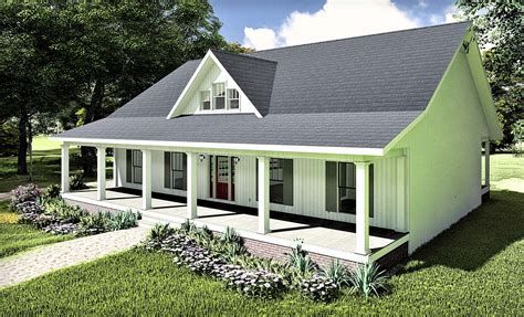 House Plan 77407 Southern Style with 1611 Sq Ft 3 Bed