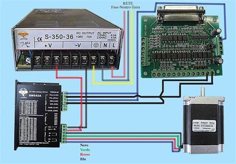 branchement driver dm542a vers bob db25 1205 et nnema 23 425 oz usinages