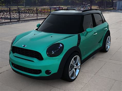 Mini Cooper S Countryman 3d Model Game Ready .max .3ds