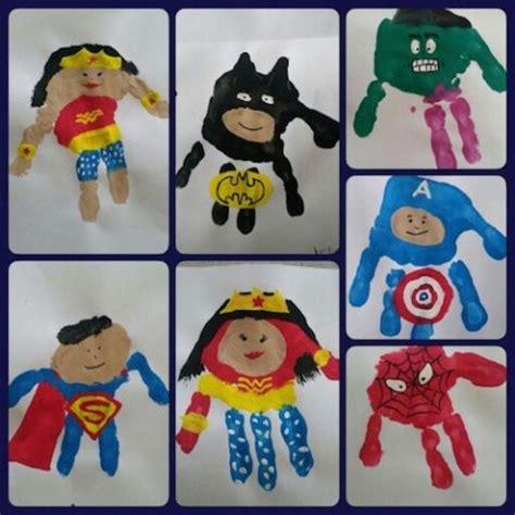 super hero handprint art malen  pinterest