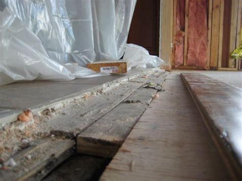 tile  wood transition uneven tile elevation
