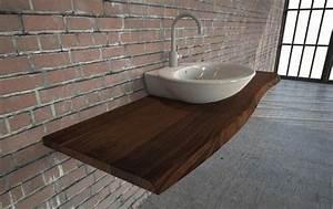 Waschtischplatte Holz Massiv : die besten 25 waschtischplatte holz ideen auf pinterest ~ Lizthompson.info Haus und Dekorationen