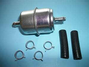Fuel Filter Universal Inline Metal 5  16 U0026quot  With Clamps And