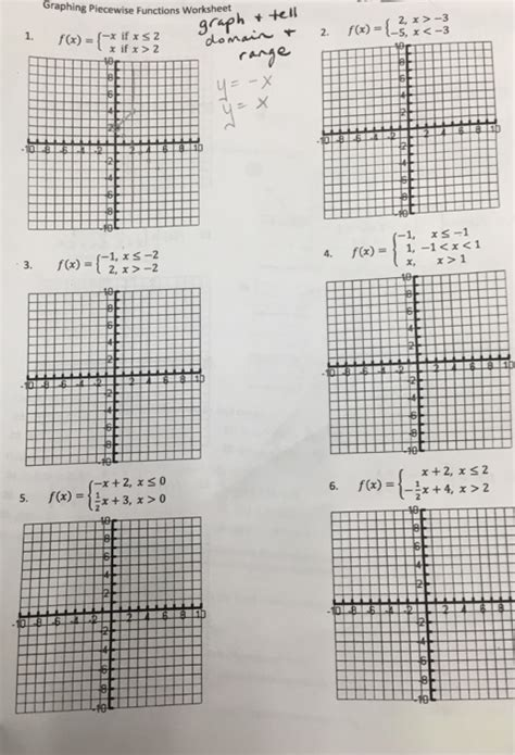 solved graphing piecewise functions worksheet f i chegg com