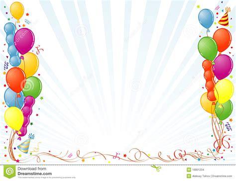 birthday frame stock vector image  postcard blue