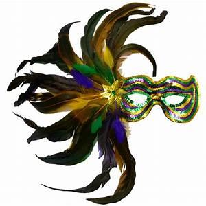 Feather Burst Sequin Mask: PGG [36012] - MardiGrasOutlet.com
