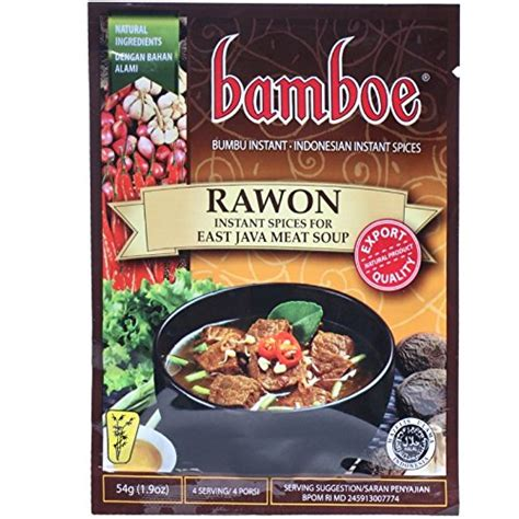 Bamboe Bumbu Sop 54gr bamboe bumbu instant rawon east java soup 54 gram