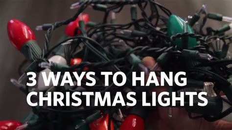 how to hang lights on your house 3 different