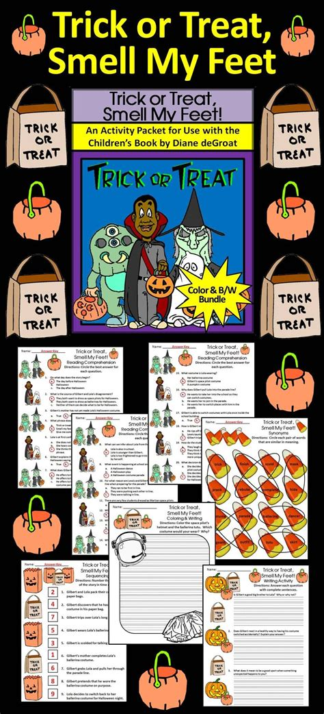halloween reading activities trick  treat smell