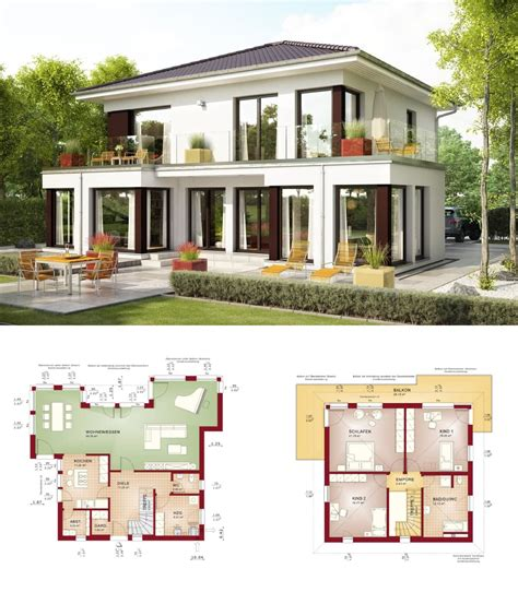 Haus Grundriss Modern by Einfamilienhaus Evolution 154 V10 Bien Zenker Fertighaus