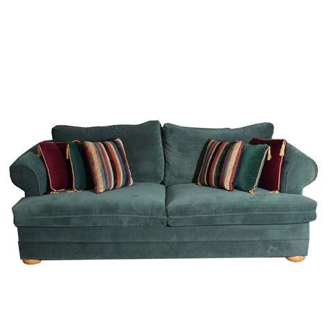 Green Sleeper Sofa by Green Upholstered Sleeper Sofa With Throw Pillows Ebth