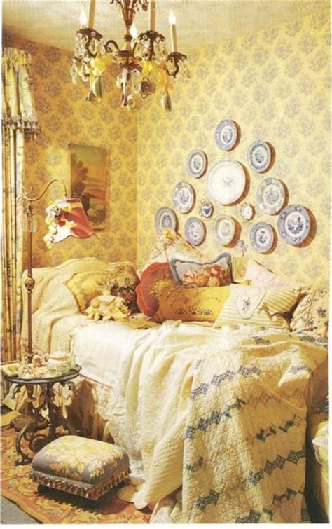 yellow shabby chic bedroom romantic homes magazine bedrooms pinterest the chandelier home magazine and yellow cottage