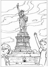 Liberty Statue Coloring Pages United sketch template