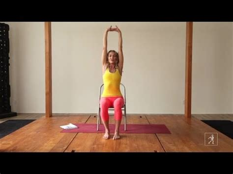 3 minute chair yoga sequence youtube