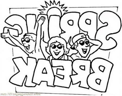 Spring Break Coloring Page Coloring Home