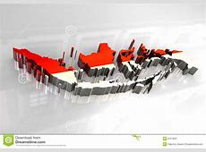 3d Map Flag Of Indonesia Stock Photos Image 8127823