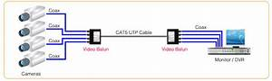 Video Balun  U0026 Cat5 Cable