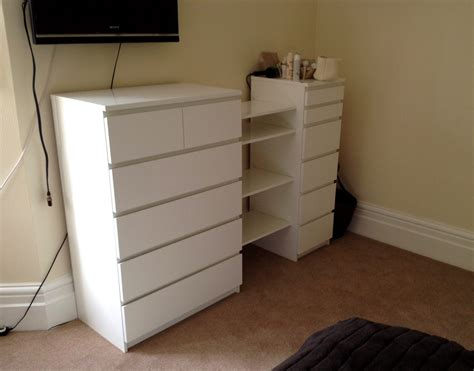 Ikea Malm Drawers & Besta Shelf Hack
