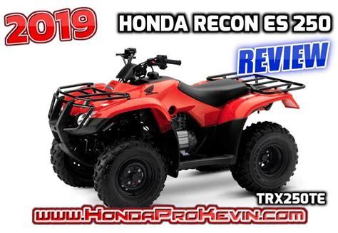2019 Honda Recon Es 250 Atv Review  Specs & Features