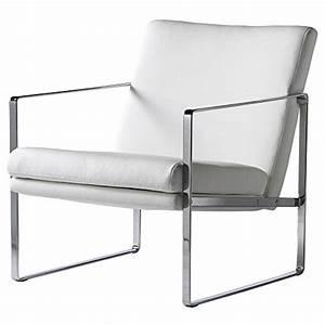 fauteuil design en simili cuir blanc barcelone With fauteuil en cuir blanc design