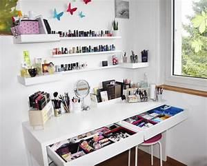 Meuble De Maquillage : ma coiffeuse o et comment je range mon maquillage r glisse myrtilles ~ Teatrodelosmanantiales.com Idées de Décoration