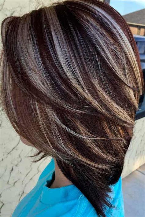 highlighted hair  brunettes highlighted hair