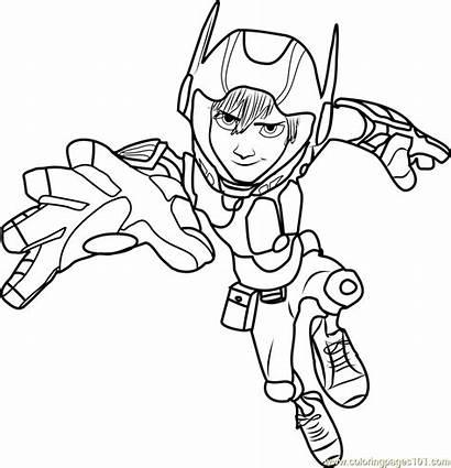 Coloring Action Hiro Pages Hero Cartoon Movies