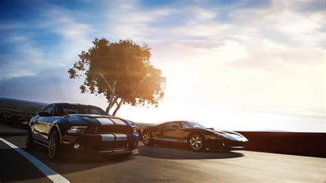 Ford Mustang Shelby Gt500 Ford Gt Gran Turismo 6 Wallpaper