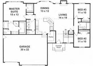 multi level home floor plans traditional style house plans 1527 square foot home 1 story 3 bedroom and 2 bath 3 garage