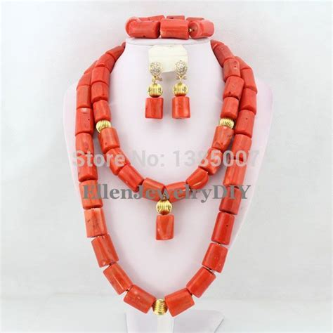 big nigerian wedding african beads jewelry sets  brides