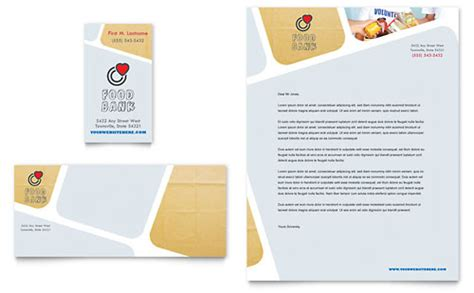 food bank letterhead templates  profit